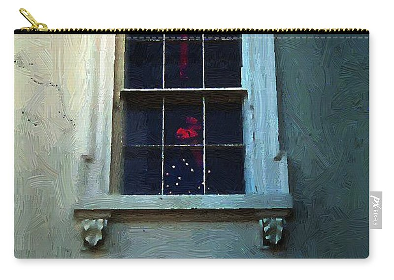 America Carry-all Pouch featuring the painting Merry Christmas America by RC DeWinter