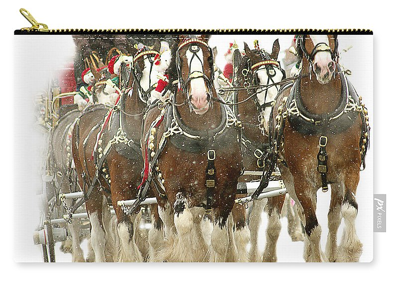 Carry-all Pouch featuring the photograph Merry Christmas by Jenny Gandert