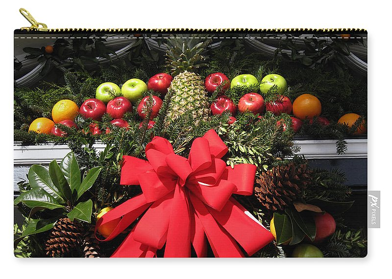 Christmas Cards Carry-all Pouch featuring the photograph Merry Christmas by Susanne Van Hulst