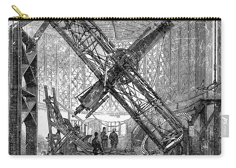 Historic Carry-all Pouch featuring the photograph Merz Telescope, Royal Observatory by Wellcome Images