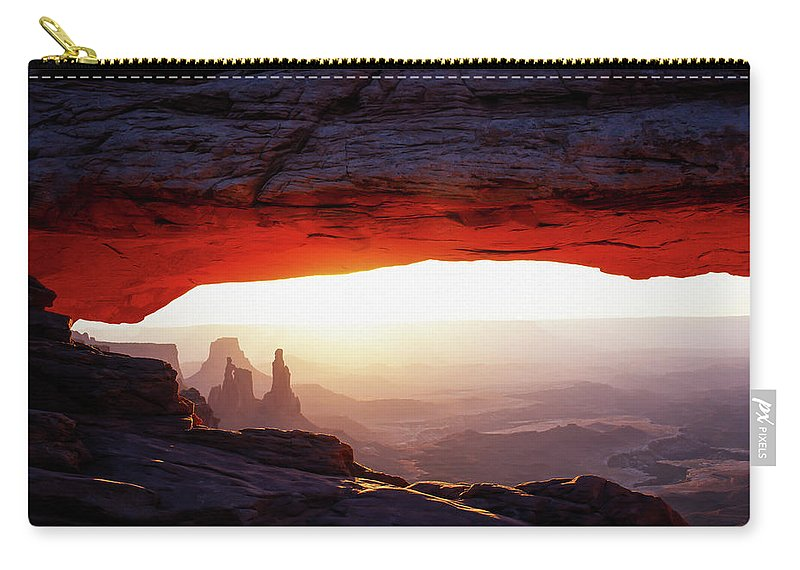 Canyonlands Carry-all Pouch featuring the photograph Mesa Arch Sunrise 4 by Tracy Knauer