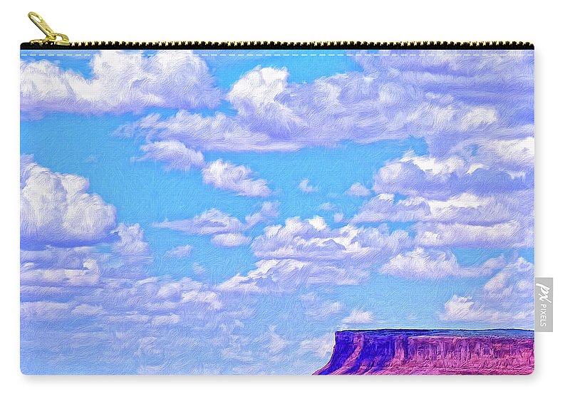 Mesa At Vermilion Cliffs Carry-all Pouch featuring the painting Mesa At Vermilion Cliffs by Dominic Piperata