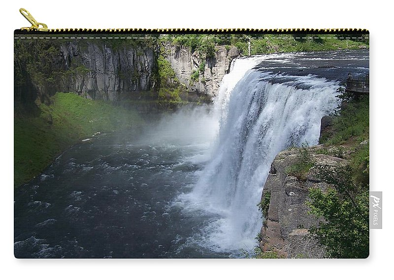 Landscape Carry-all Pouch featuring the photograph Mesa Falls by Gale Cochran-Smith