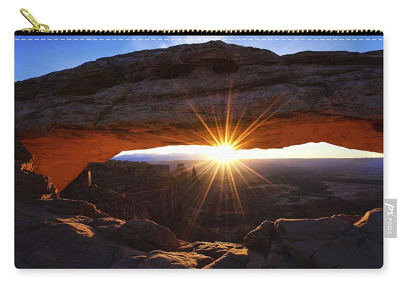 Mesa Sunrise Carry-all Pouch featuring the photograph Mesa Sunrise by Chad Dutson