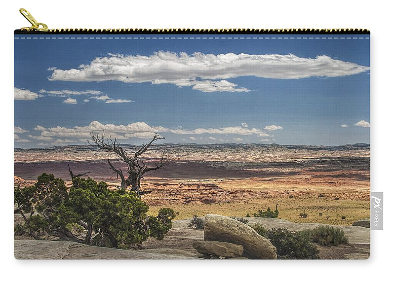 Mesa Carry-all Pouch featuring the photograph Mesa View In Utah by Randall Nyhof