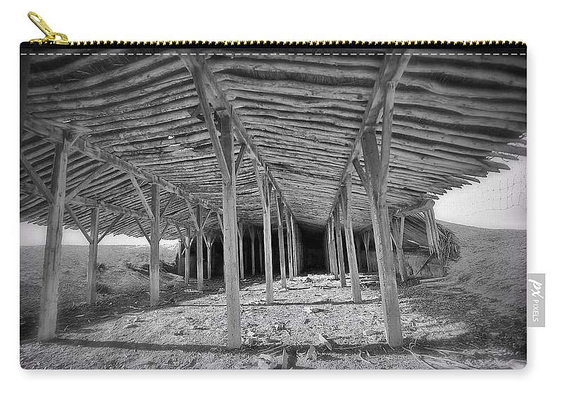 Barn Carry-all Pouch featuring the photograph Mesita Barn by Pam Colander