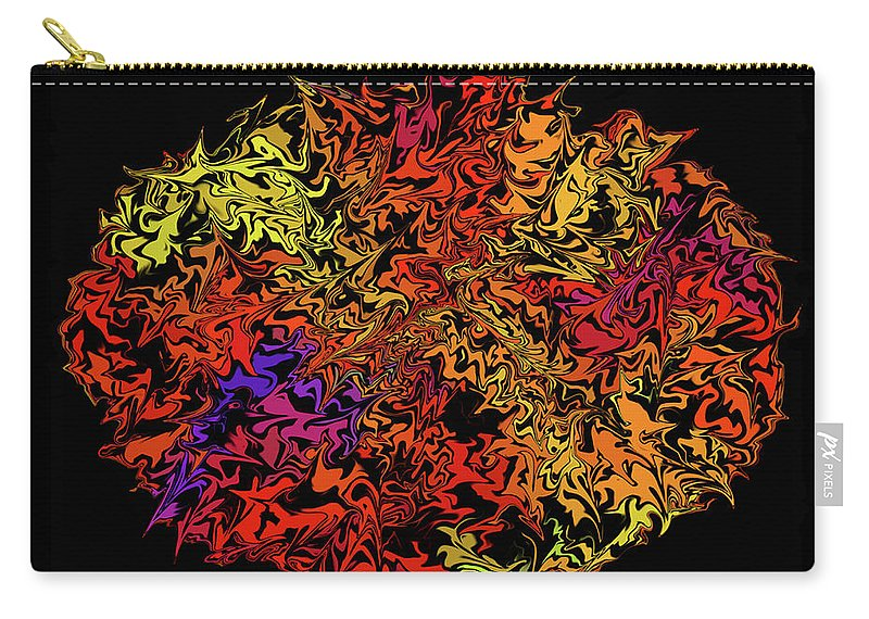 Digitalimage Carry-all Pouch featuring the digital art Mess by Tony Svensson