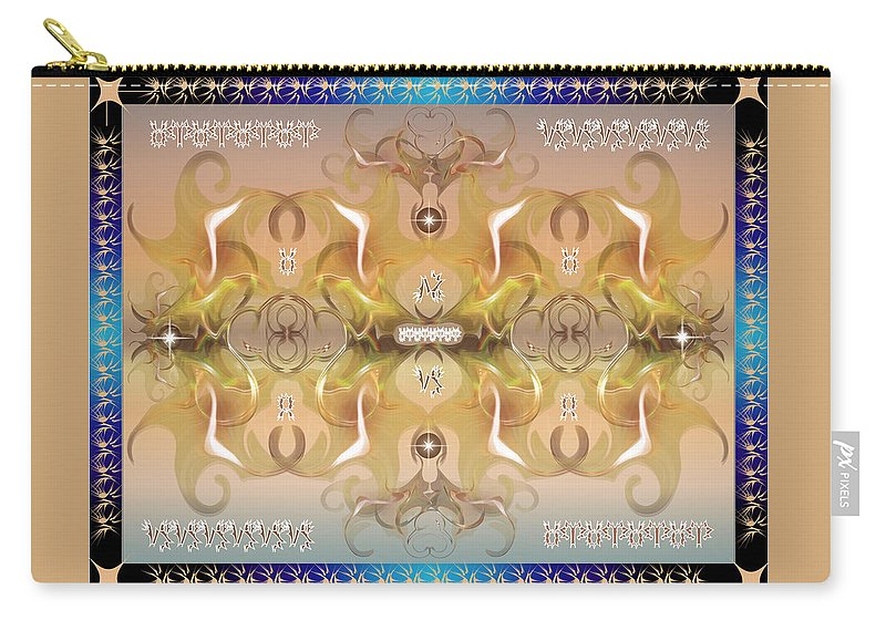 Fantasy Carry-all Pouch featuring the digital art Message From Space by George Pasini