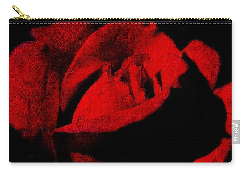 Seduction Carry-all Pouch featuring the digital art Seduction In Red by Max Steinwald