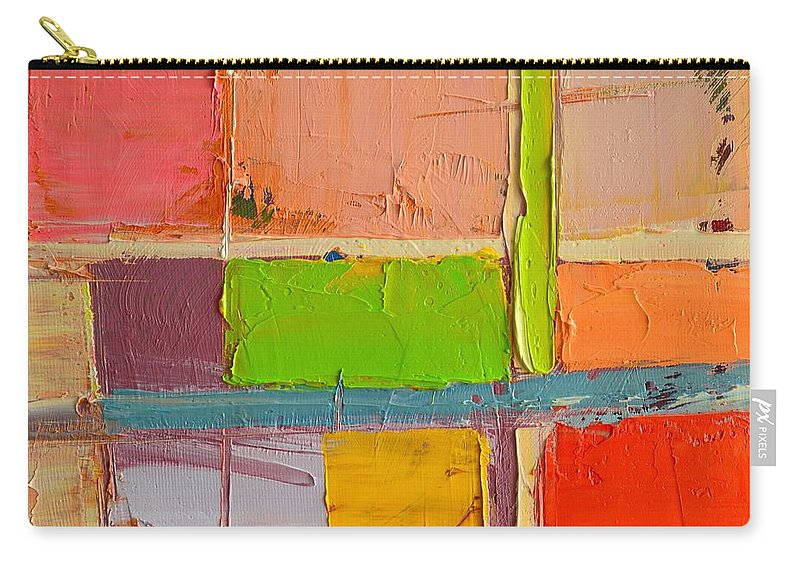 Abstract Carry-all Pouch featuring the painting Messages 2 by Ana Maria Edulescu