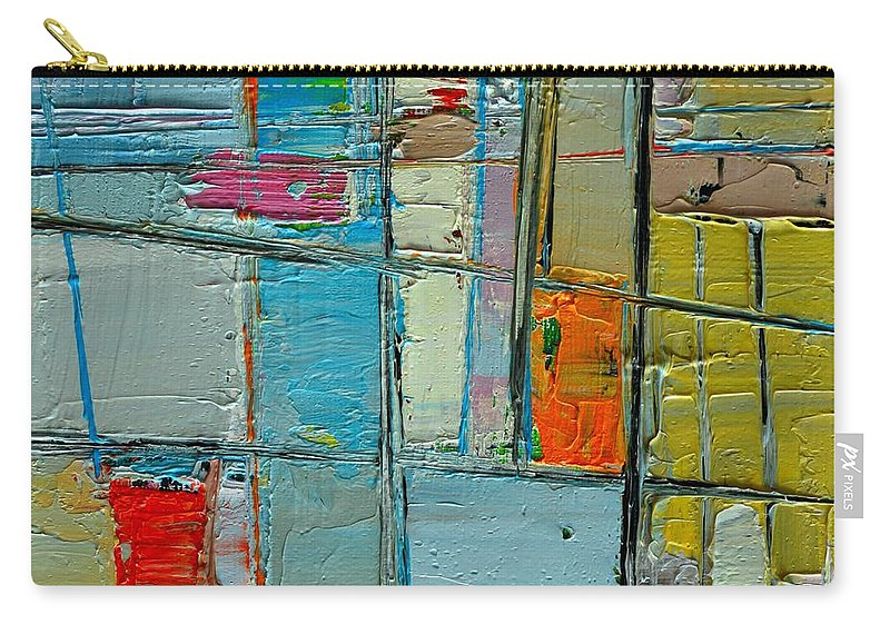 Abstract Carry-all Pouch featuring the painting Messages 3 by Ana Maria Edulescu