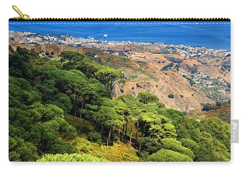 Italy Carry-all Pouch featuring the photograph Messina Strait - Italy by Silvia Ganora