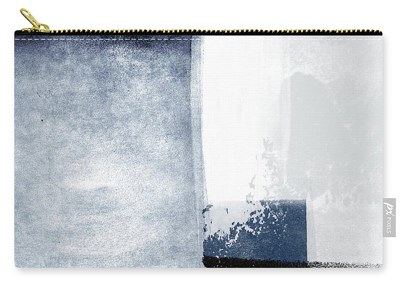 Blue Carry-all Pouch featuring the mixed media Mestro 3- Abstract Art by Linda Woods by Linda Woods
