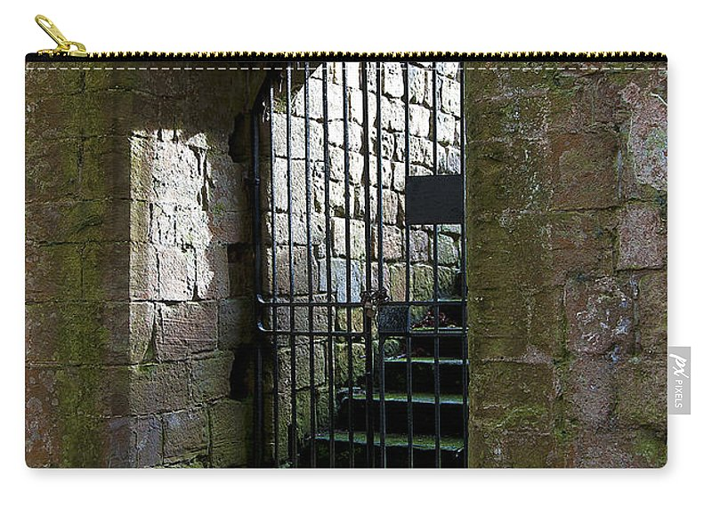 Castle Carry-all Pouch featuring the photograph Metal Cage Door by Svetlana Sewell