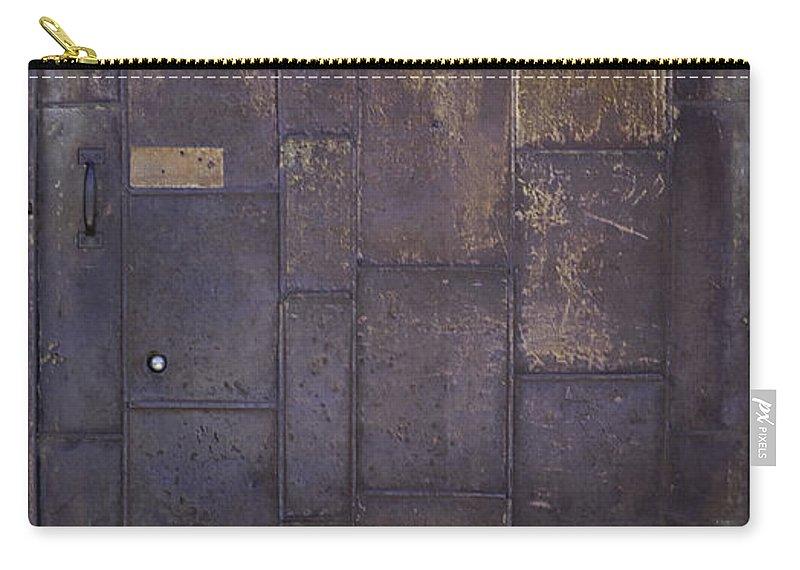 Door Carry-all Pouch featuring the photograph Metal Door by Herman Robert