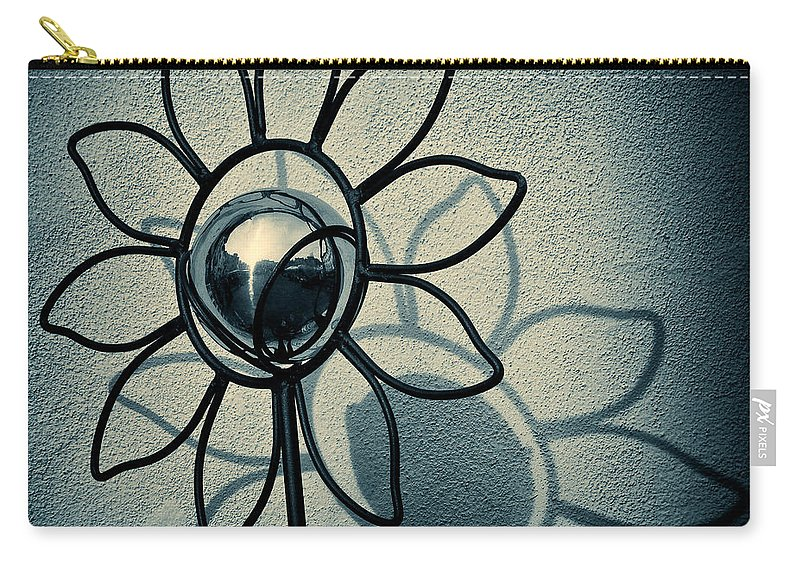 Sunflower Carry-all Pouch featuring the photograph Metal Flower by Dave Bowman