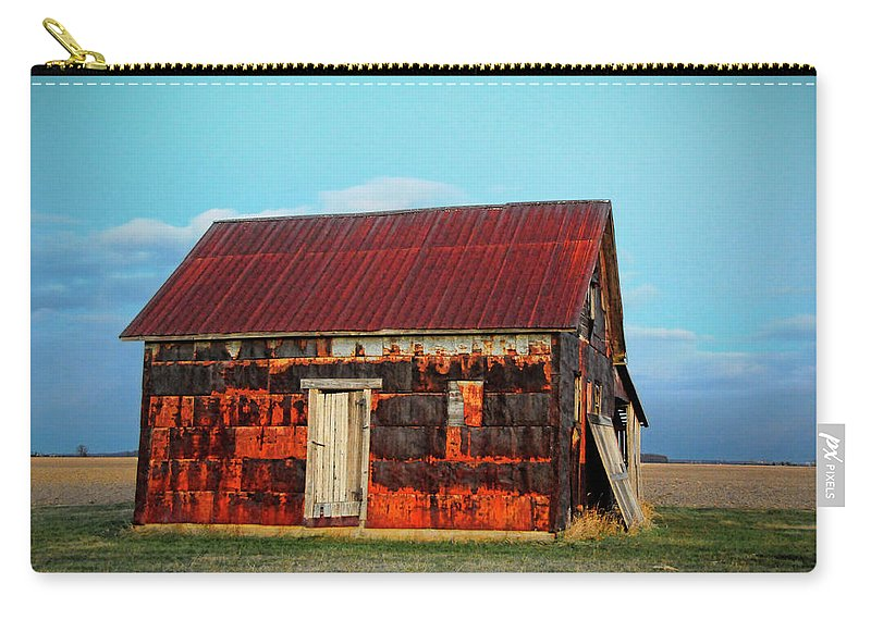 House Carry-all Pouch featuring the photograph Metal House by David Arment