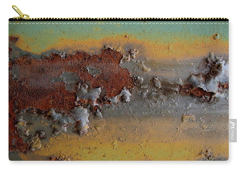 Weathered Metal Carry-all Pouch featuring the photograph Metalfasti by Elaine Booth-Kallweit
