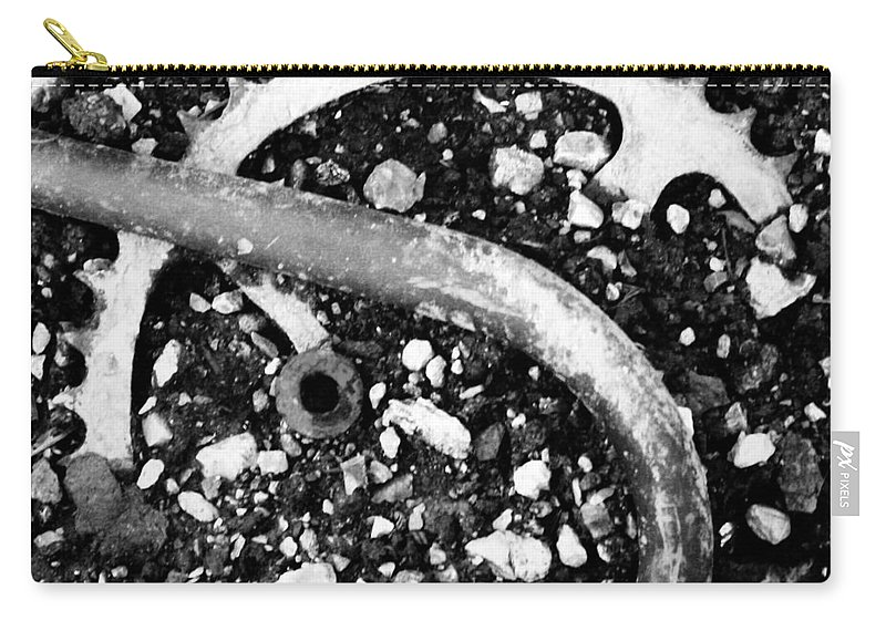 Metal Carry-all Pouch featuring the photograph Metallic Curves by Angus Hooper Iii