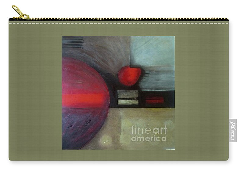 Abstract Carry-all Pouch featuring the painting Metalloid by Marlene Burns