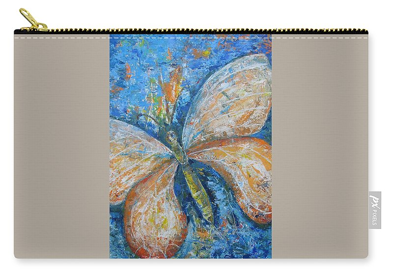 Painting Carry-all Pouch featuring the painting Metamorfozy I by Stella Velka