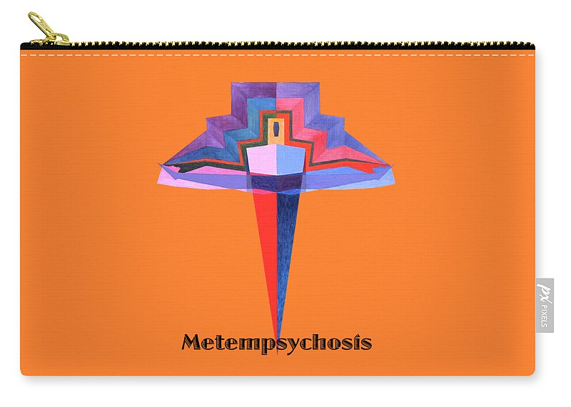 Painting Carry-all Pouch featuring the painting Metempsychosis text by Michael Bellon
