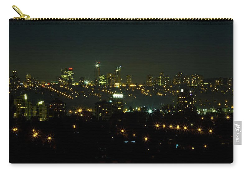 City Carry-all Pouch featuring the photograph Metro Town by Redjule Photography