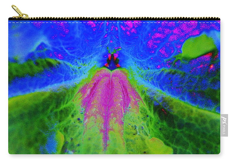 Abstract Carry-all Pouch featuring the photograph Mexican Petunia Abstract by J M Farris Photography