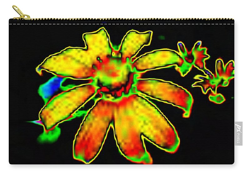 Sunflower Carry-all Pouch featuring the photograph Mexican Sunflower by Tim Allen