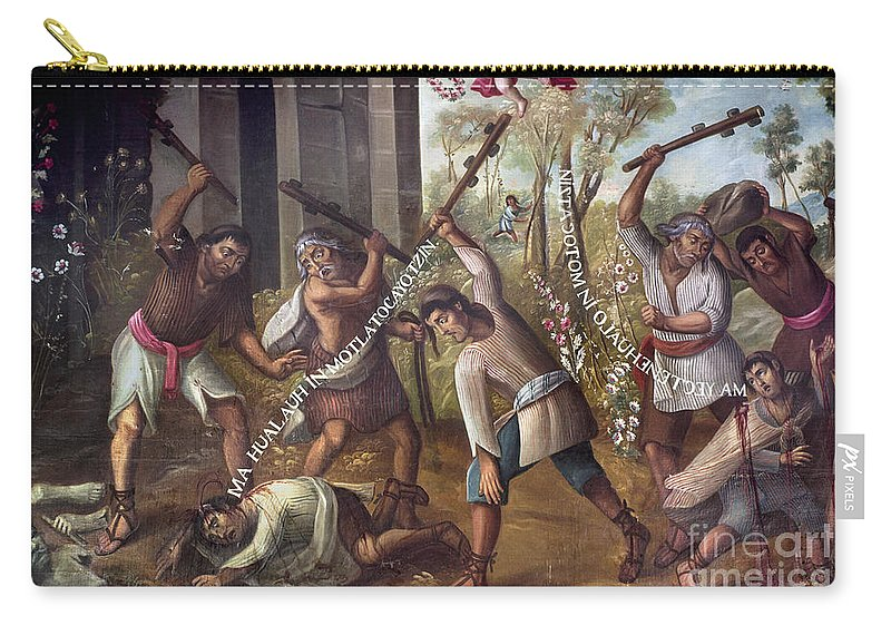 18th Century Carry-all Pouch featuring the photograph Mexico: Christian Martyrs by Granger