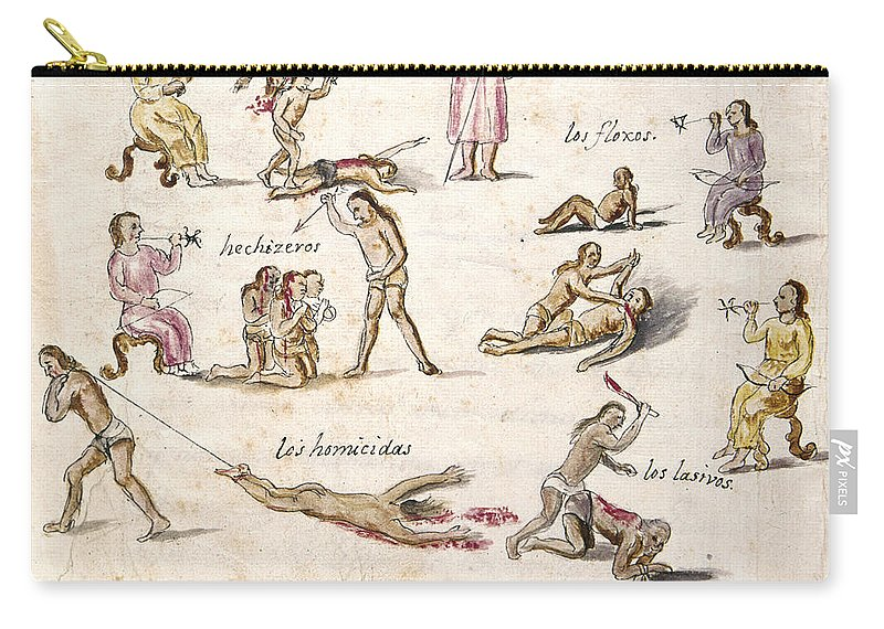 1750 Carry-all Pouch featuring the photograph Mexico: Indian Punishments by Granger