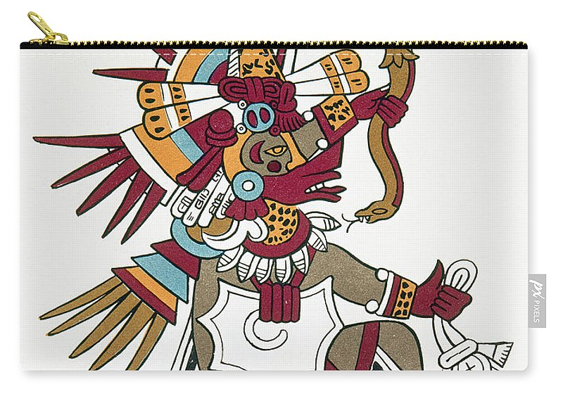 1500 Carry-all Pouch featuring the photograph Mexico: Quetzalcoatl by Granger