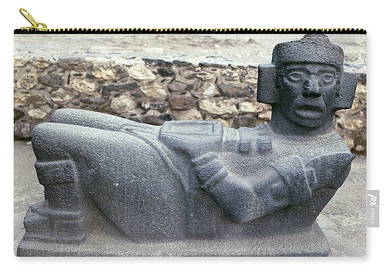 10th Century Carry-all Pouch featuring the photograph Mexico: Toltec Altar by Granger