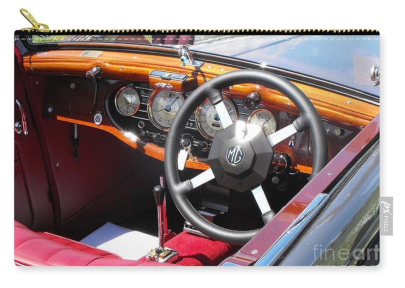Mg Carry-all Pouch featuring the photograph Mg Dashboard by Neil Zimmerman