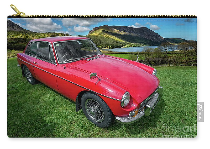 Vintage Car Carry-all Pouch featuring the photograph Mgb Gt by Adrian Evans