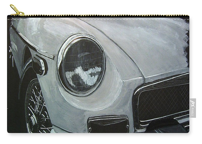 Mgb Carry-all Pouch featuring the painting MGB by Richard Le Page