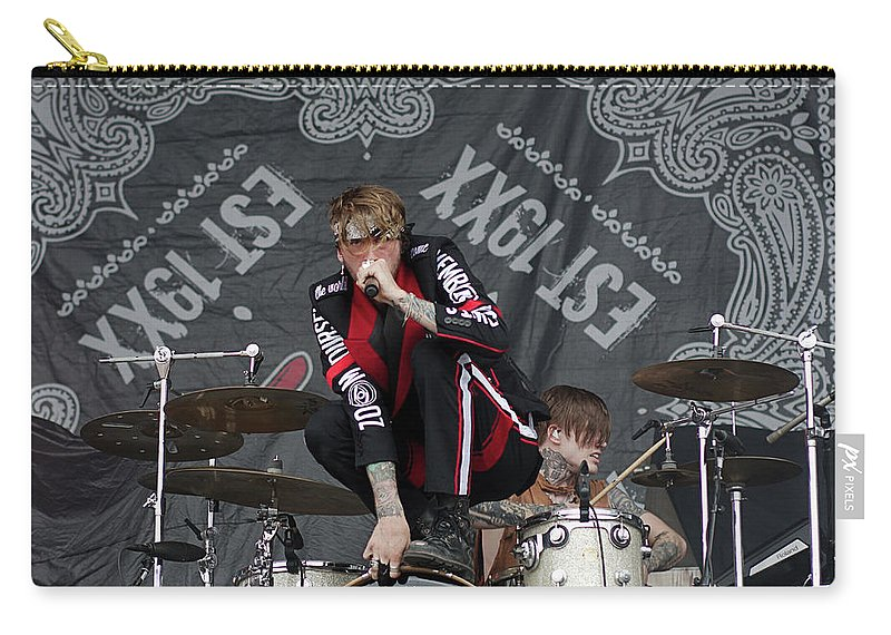 Concert Photo Carry-all Pouch featuring the photograph Mgk Drums by CSN Photography