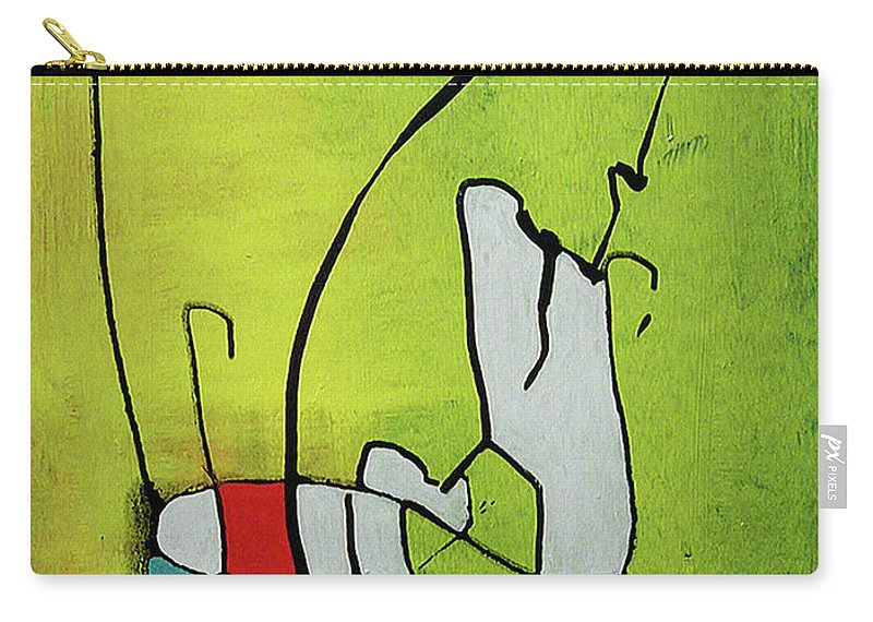 Abstract Carry-all Pouch featuring the painting Mi Caballo by Jeff Barrett