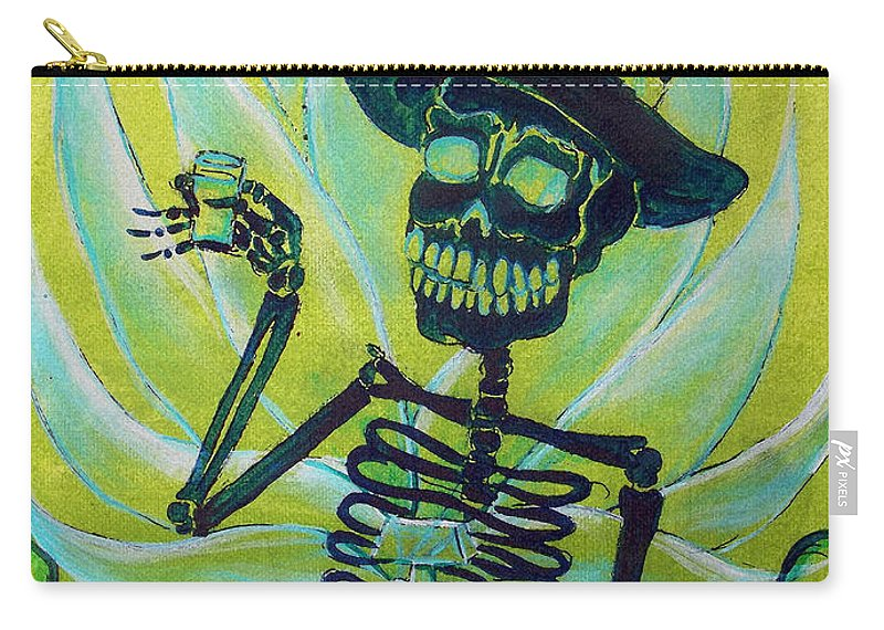Day Of The Dead Carry-all Pouch featuring the painting Mi Tequila by Heather Calderon