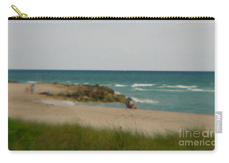 Miami Carry-all Pouch featuring the photograph Miami by Amanda Barcon