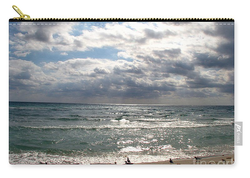 Miami Carry-all Pouch featuring the photograph Miami Beach by Amanda Barcon