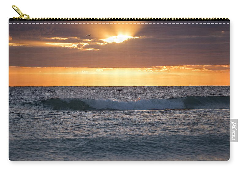 Miami Carry-all Pouch featuring the photograph Miami Beach Florida Sunrise by Toby McGuire