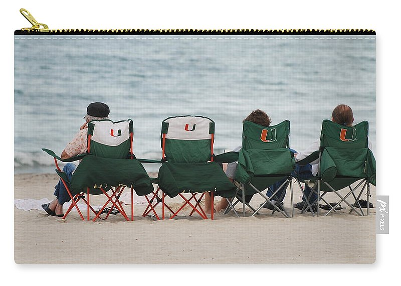 University Of Miami Carry-all Pouch featuring the photograph Miami Hurricane Fans by Rob Hans
