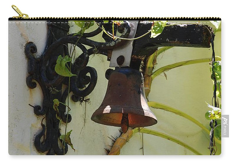 Architecture Carry-all Pouch featuring the photograph Miami Monastery Bell by Rob Hans