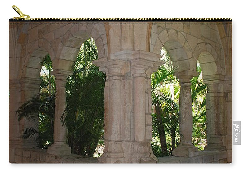 Architecture Carry-all Pouch featuring the photograph Miami Monastery by Rob Hans