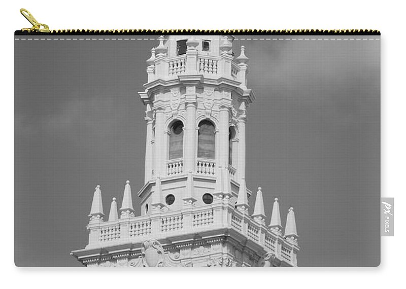 Architecture Carry-all Pouch featuring the photograph Miami Tower by Rob Hans