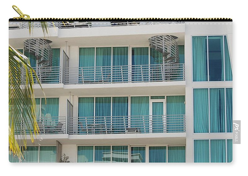 Architecture Carry-all Pouch featuring the photograph Miami Vice by Rob Hans