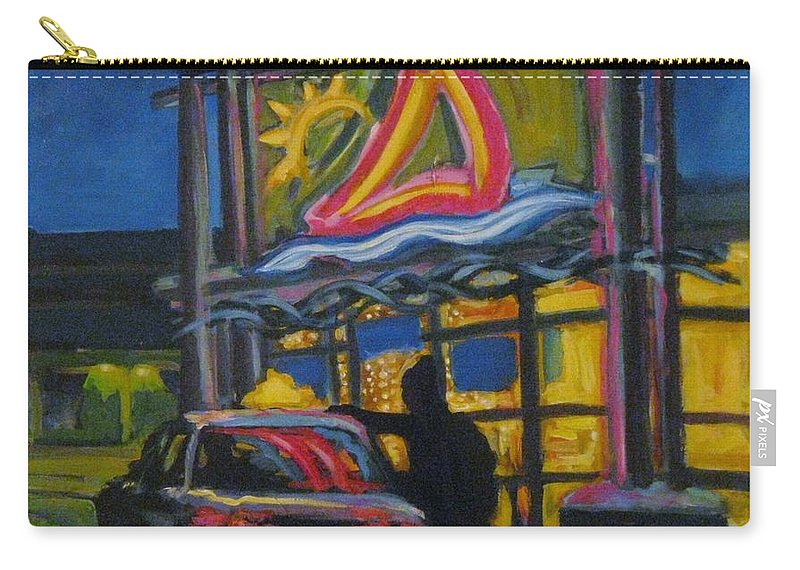 Retail Carry-all Pouch featuring the painting Mic Mac Mall Spectre Of The Next Great Depression by John Malone