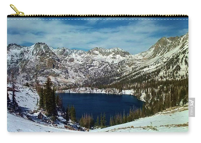 Mountains Carry-all Pouch featuring the photograph Mica Lake by Eric Fellegy