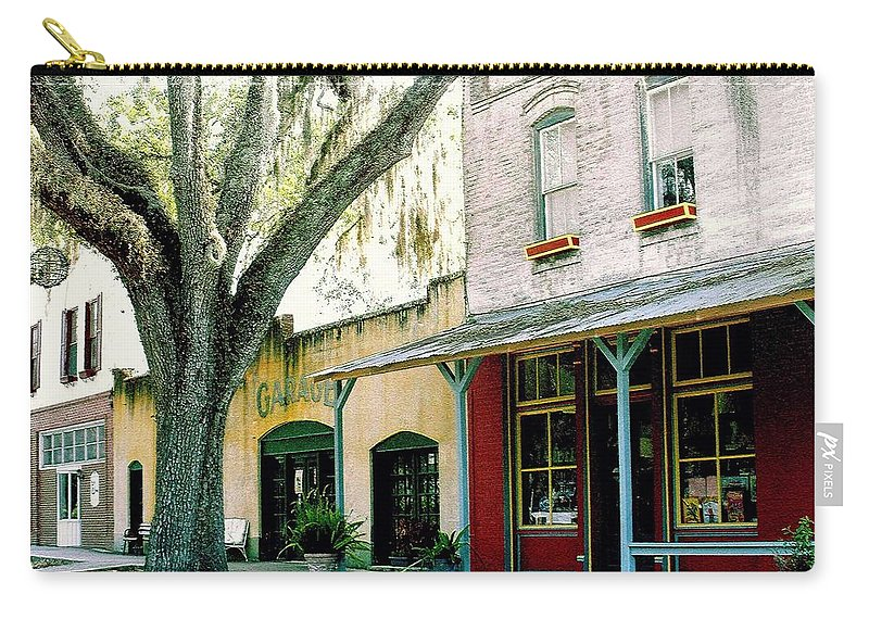 Micanopy Carry-all Pouch featuring the photograph Micanopy Storefronts by Nelson Strong
